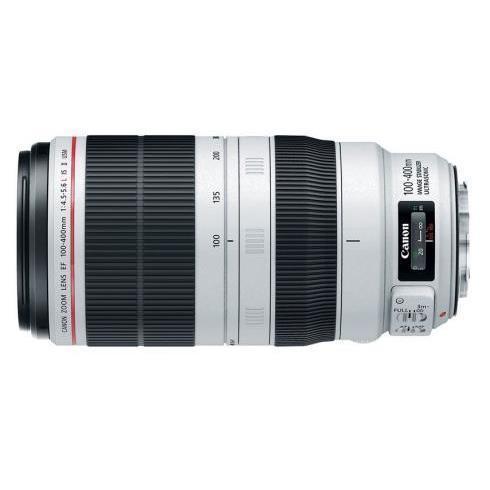 CANON EF 100-400MM II F4.5-5.6 L IS USM + ET-83D ZONNEKAP - in Camera's & Accessoires