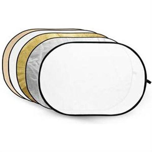 GODOX 5-IN-1 REFLECTIESCHERM GOLD, SILVER, SOFT GOLD, WHITE, TRANSLUCENT 80X120CM
