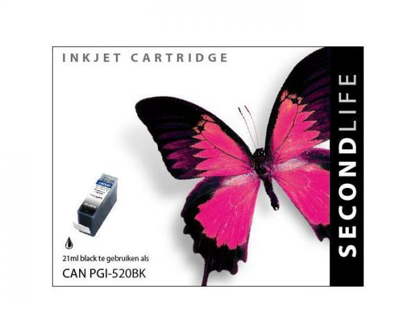 SECONDLIFE CANON PGI520 BLACK